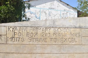 The Water Project: Kyaani Primary School -  School Sign
