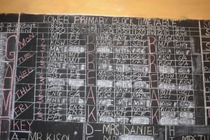 The Water Project: Kyaani Primary School -  Student Schedule