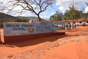 The Water Project:  Entrance And Sign