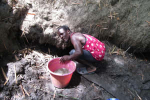 The Water Project: Mathem Community -  Collecting Water