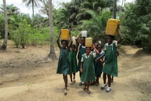 The Water Project: PC Bai Shebora Gbereh III Primary School -  Ready To Bring Water Back Home