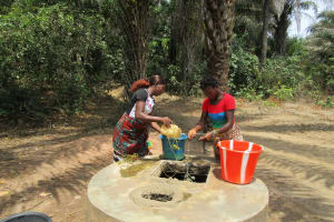 The Water Project: Mabendo Community -  Collecting Water