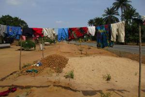 The Water Project: Komrabai Community, 35 Port Loko Road -  Clothesline