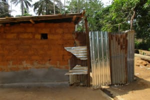 The Water Project: Komrabai Community, 35 Port Loko Road -  Latrine