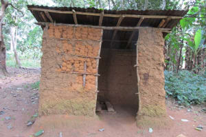 The Water Project: DEC Mathem Primary School -  Community Latrine