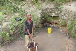 The Water Project: Mapitheri, Port Loko Road -  Collecting Water At Another Open Source