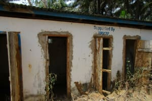 The Water Project: DEC Komrabai Primary School -  Abandoned Latrines