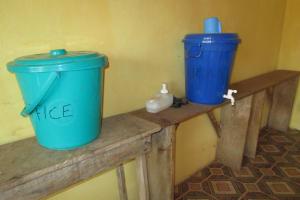The Water Project: United Brethren Academy Secondary School -  Handwashing Station