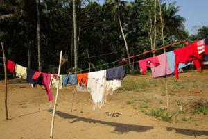 The Water Project: Moniya Community -  Clothesline