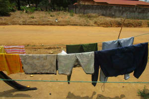 The Water Project: Modia Community, 63 Spur Road -  Clothesline