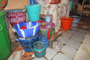 The Water Project: Modia Community, 63 Spur Road -  Water Storage Containers