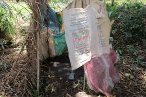 The Water Project: Moniya Community -  Bathshelter