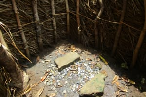 The Water Project: Modia Community, 63 Spur Road -  Inside Bathshelter