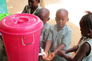 The Water Project: Kamasando DEC Primary School -  Handwashing Station