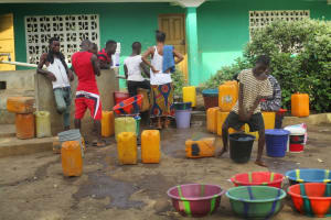 The Water Project: Kamasando DEC Primary School -  Water Containers