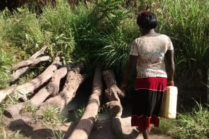 The Water Project: Alimugonza Community -  Collecting Water