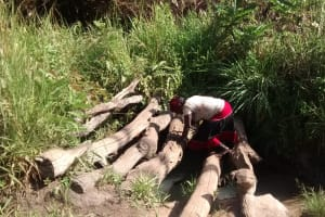 The Water Project: Alimugonza Community A -  Collecting Water