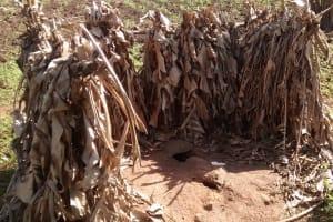 The Water Project: Alimugonza Community A -  Improvised Latrine
