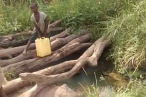 The Water Project: Alimugonza Community A -  Kids Collecting Water