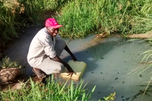 The Water Project: Nyakarongo Community -  Collecting Water At Open Source