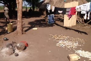 The Water Project: Alimugonza Community B -  Clothes Dry On Line