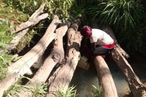 The Water Project: Alimugonza Community B -  Collecting Water