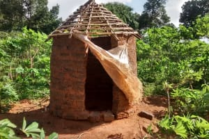 The Water Project: Alimugonza Pabidi Community -  Latrine
