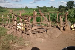 The Water Project: Alimugonza Pabidi Community -  Well In Need Of Rehabilitation
