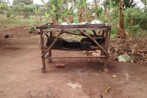 The Water Project: Kyamudikya Community A -  Dish Drying Rack