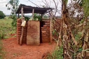 The Water Project: Kyamudikya Community A -  Latrine With Handwashing Station