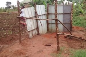 The Water Project: Kyamudikya Community A -  Unfinished Latrine