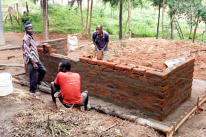 The Water Project: Bishop Makarios Secondary School -  Latrine Construction