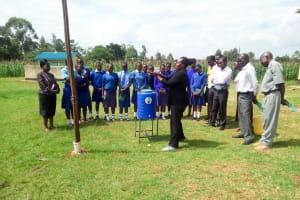The Water Project: Eshisenye Girls Secondary School -  Handwashing Training