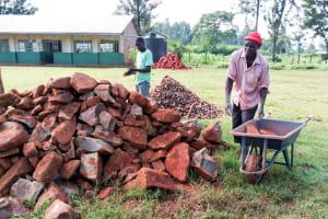 The Water Project: Injira Secondary School -  Latrine Construction