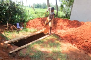The Water Project: Namalasire Primary School -  Digging The Pit For Latrines