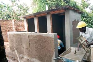 The Water Project: St. Stephen Maraba Secondary School -  Latrine Construction