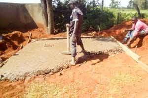 The Water Project: Namalasire Primary School -  Laying The Pit Latrine Foundation