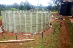 The Water Project: Shitoli Secondary School -  Tank Construction