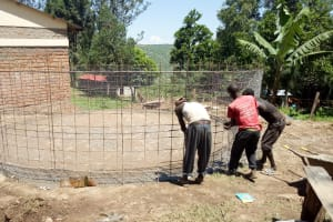 The Water Project: Bishop Makarios Secondary School -  Iron Mesh Used In Tank Wall
