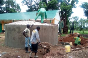 The Water Project: Bushili Primary School -  Tank Construction