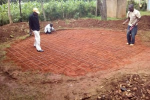 The Water Project: Namalasire Primary School -  Tank Foundation