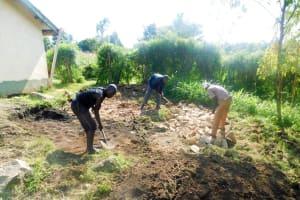The Water Project: Rabuor Primary School -  Tank Foundation