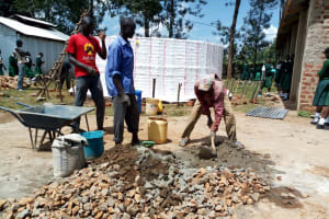 The Water Project: Injira Secondary School -  Tank Construction
