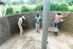 The Water Project: Rabuor Primary School -  Tank Construction