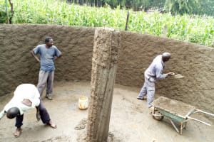 The Water Project: Namalasire Primary School -  Tank Construction