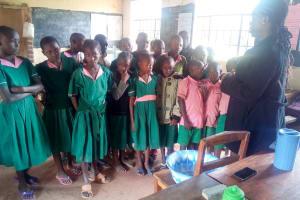 The Water Project: Bushili Primary School -  Demonstrating Handwashing