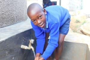 The Water Project: JM Rembe Primary School -  Clean Water Flowing