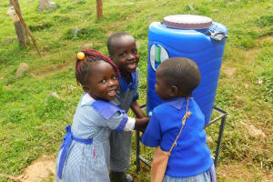 The Water Project: JM Rembe Primary School -  Handwashing At New Station