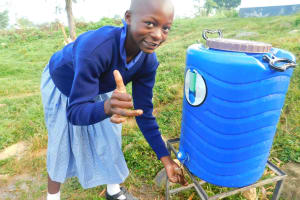 The Water Project: JM Rembe Primary School -  Thumbs Up To Handwashing Stations