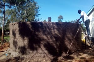 The Water Project: Essong'olo Secondary School -  Building Tank Walls